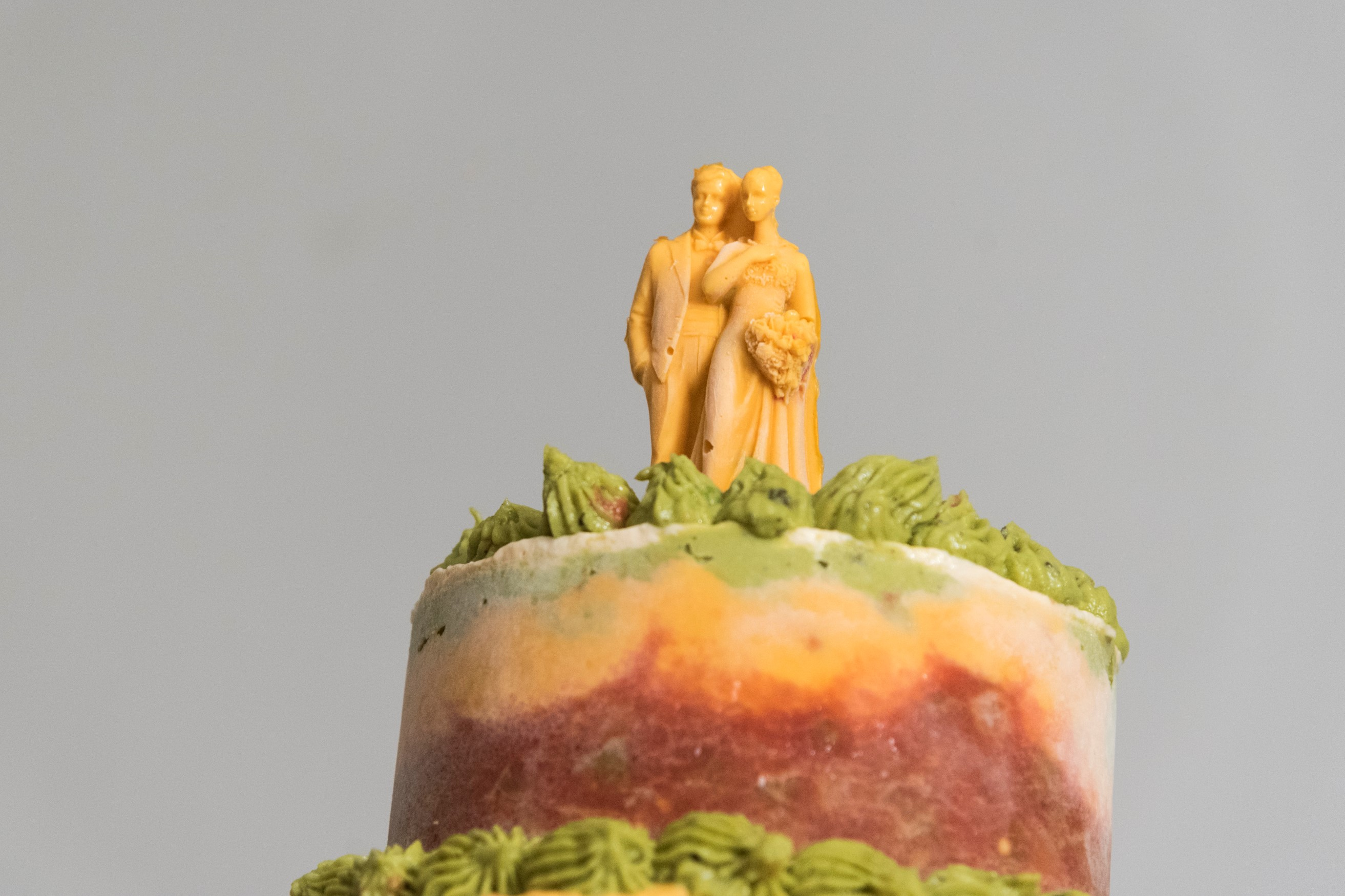 Seven layer dip wedding cake