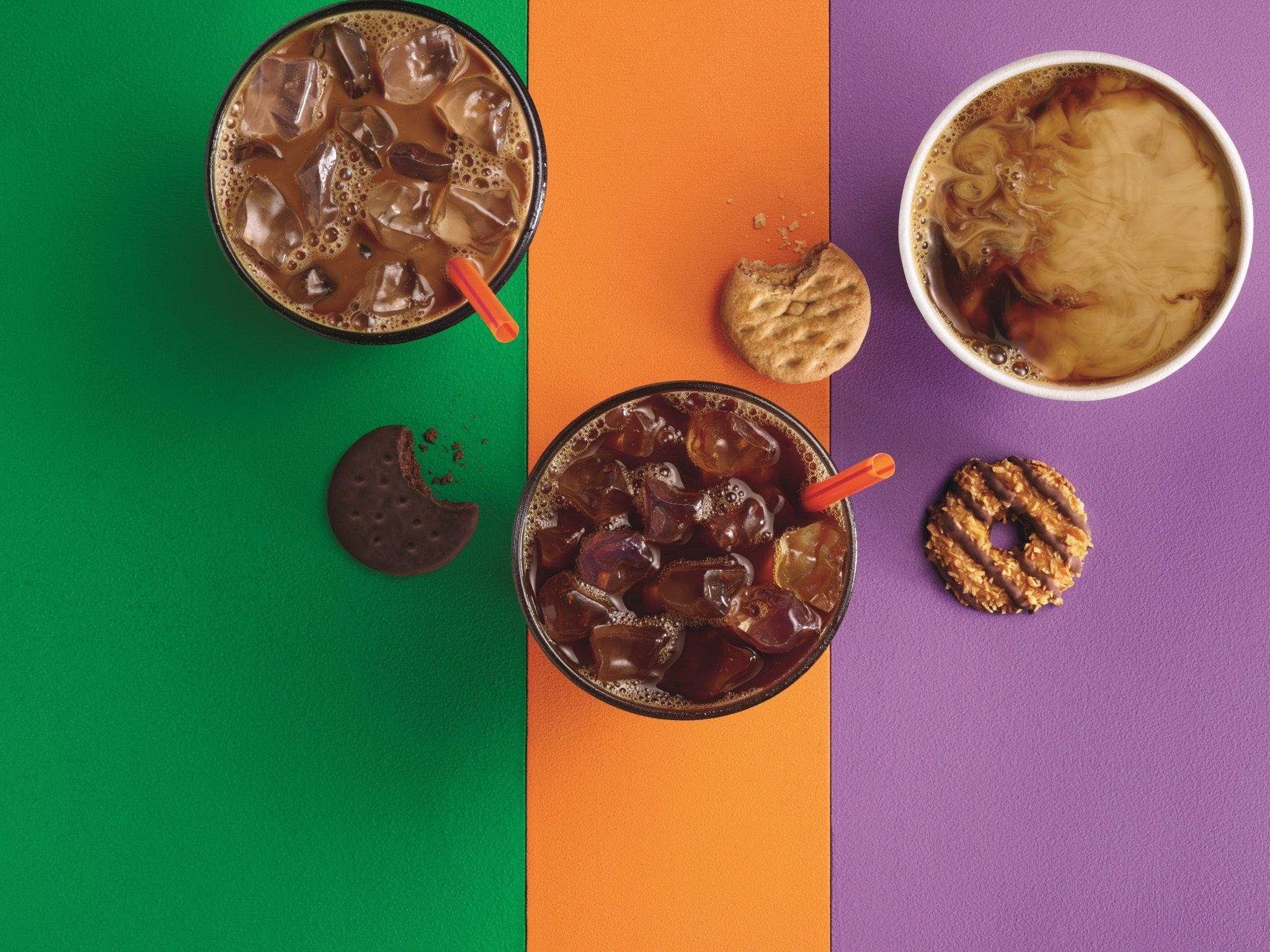 Dunkin' Donuts is partnering with Girl Scout Cookies, and we're so ready